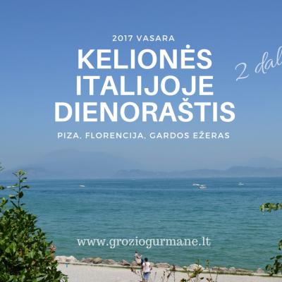 Kelionės Italijoje dienoraštis: Piza, Florencija, Gardos ežeras (2)