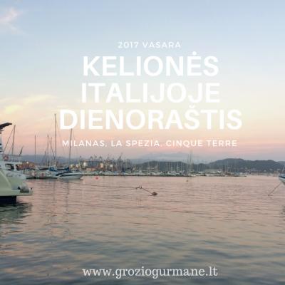 Kelionės Italijoje dienoraštis: Milanas, La Spezia, Cinque Terre (1)
