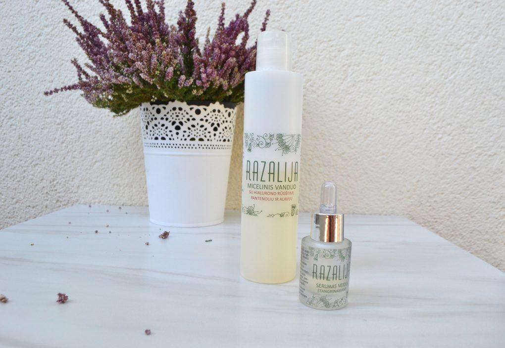 """Vaistinėje gaminama kosmetika: micelinis vanduo bei serumas su hialuronu """"Razalija"""""""