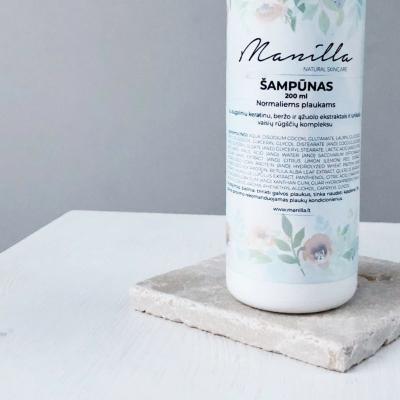 Natūralus Manilla rankų darbo šampūnas su augaliniu keratinu