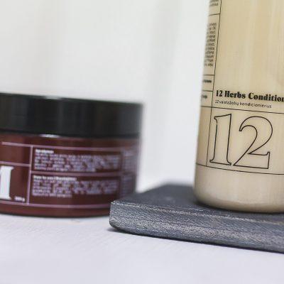 VIVI plaukų priežiūra: 12 vaistažolių kondicionierius bei kaukė su keratinu