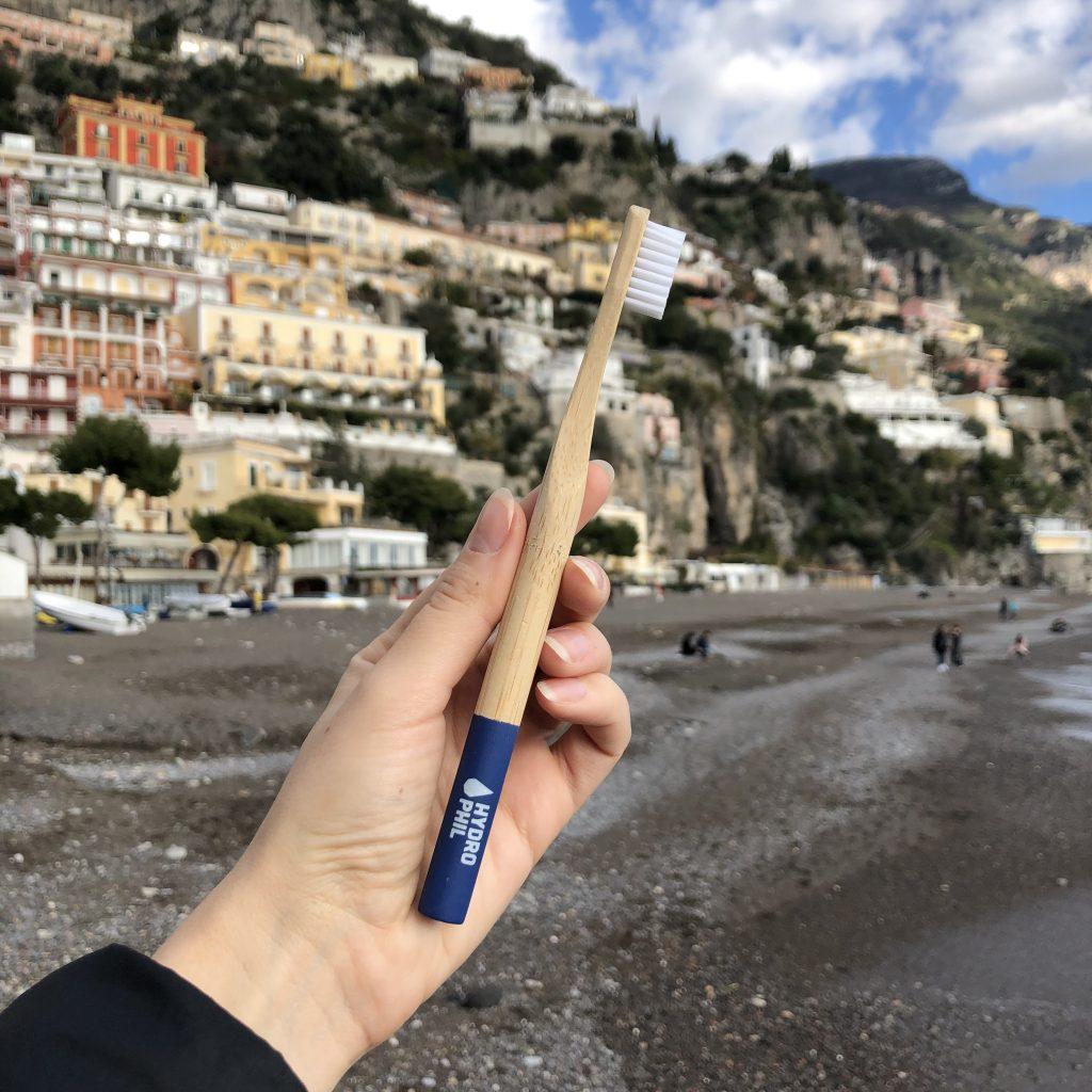 bambukinis dantu sepetelis