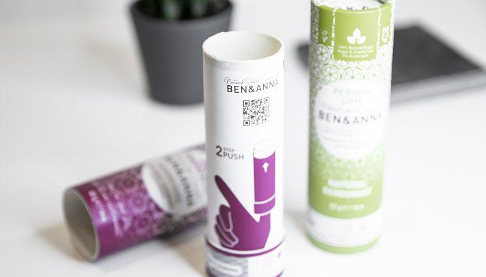 Ben&Anna natūralūs veganiški dezodorantai be plastiko